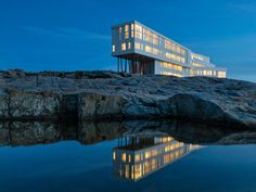Fogo Island, Newfoundland and Labrador Saunders Architecture, 2013A standout in an extraordinary setting, this waterfront structure is the latest project by architect Todd Saunders to grace the remote isle, off the coast of Newfoundland. The Norway-based talent previously completed a series of cabin studios for a local artist-residency program, and this inn—opened in June—echoes the spare vernacular-inspired style of those acclaimed buildings, albeit on a considerably larger scale. Totaling…