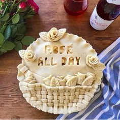 Pies for every occasion  Because today is National Drink Wine Day  Did you celebrate?  We did. (We also celebrated yesterday and the day before and the day before that ...) #nationaldrinkwineday #pielove #roseallday #huffposttaste #buzzfeedfood #f52grams