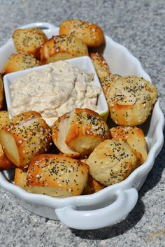 Everything bagel pretzel bites!  Look almost too good | Gettin' hungry!