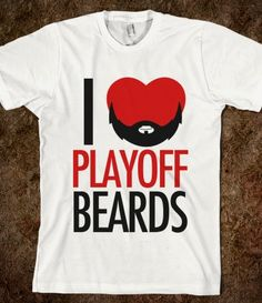 Blackhawks Playoff Beards...This should read HATE playoff beards....Do hockey players have any idea how much the ladies hate this!!!