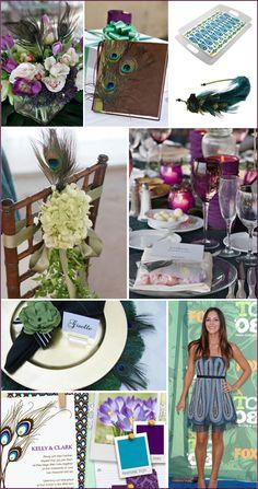 Peacock Party Inspiration: Beautiful Jewel Tones - Pepper Design Blog