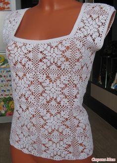 Delicadezas en crochet Gabriela: Falda zapatilla y blusa