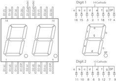 7 segment pin outs