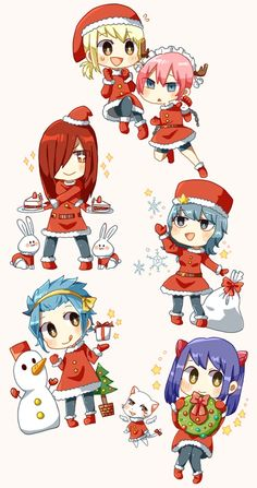 Fairy Tail Girls at Christmas Time …