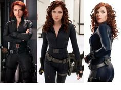 Black Widow Halloween Costume. I could totally do this with my red hair!                                                                                                                                                                                 More