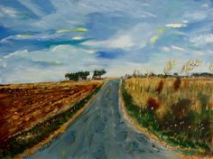 """(Add to ArtStack) Saatchi Art Artist: Rex Maurice Oppenheimer; Acrylic 2016 Painting """"Walking to Van Gogh's Grave, Auvers Sur Oise, France"""""""