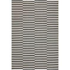 Cameron Stripe - Coal/Surf - Flat Weave - Floorcovering - Products - Ralph Lauren Home - RalphLaurenHome.com