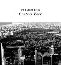 Central Park is everything