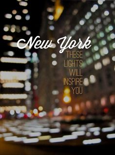 New York City lights. I Love Nyc, My Love, New York Quotes, New York City, A New York Minute, Empire State Of Mind, City That Never Sleeps, Dream City, I Want To Travel