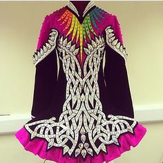 Irish Dance Solo Dress Costume by Celtic Star - love that purple pink color