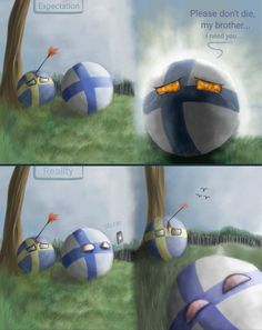 Finland and Sweden. Cute N Country, Country Art, Poland Country, Hetalia, Finnish Memes, Satw Comic, History Memes, Fun Comics, Best Funny Pictures