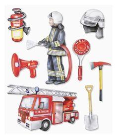 3 D Sticker XXL Feuerwehr