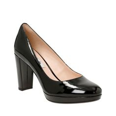 Oh look, heels I might be able to walk in.. Kendra Sienna Black Patent womens-heels