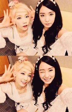 Taeyeon and Tiffany - SNSD
