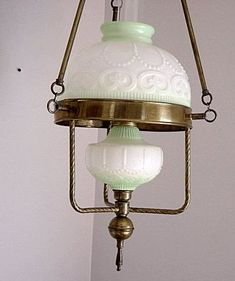 Vintage Hanging Oil Lamp