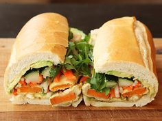 Vietnamese Sandwiches with Tempura Sweet Potato and Avocado (Vegan Banh Mì) | Serious Eats : Recipes