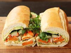Vietnamese Sandwiches with Tempura Sweet Potato and Avocado (Vegan Banh Mì) | Serious Eats : Recipes