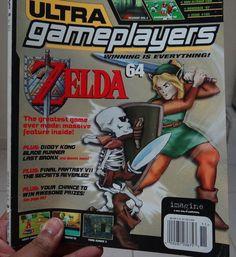 Ultra Gameplayers Magazine nov'97 Zelda64 Cover #nintendo #magazine #videogames #vintage