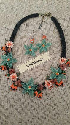 Boho Necklace, Boho Jewelry, Beaded Jewelry, Handmade Jewelry, Handmade Gifts, Crochet Earrings Pattern, Crochet Necklace, Crochet Patterns, Teneriffe