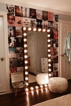 Vanity Mirror with Lights Ideas (DIY or BUY) for Amour Makeup Room - Vanity . - Vanity Mirror with Lights Ideas (DIY or BUY) for Amour Makeup Room – Vanity Mirror with Light - Room Ideas Bedroom, Room Decor Bedroom, Bedroom Lighting, Diy Bedroom Decor For Teens, Paris Bedroom, Bedroom Inspo, Teen Wall Decor, Vanity Lighting, Bedroom Ideas Creative