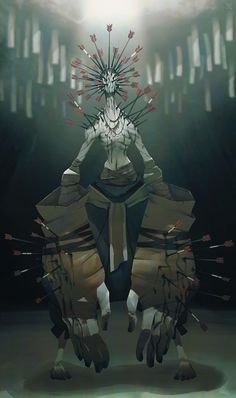 Deadslug_digital_painting_illustration_guardian_arrows_monster