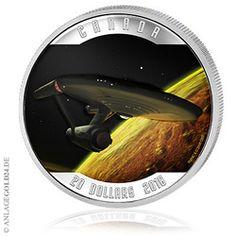 Raumschiff Enterprise Silbermünze / Star Trek