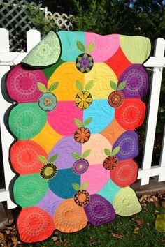 Modern Quilt Art Quilt Wall Hanging Boho by TrueloveQuiltsForYou