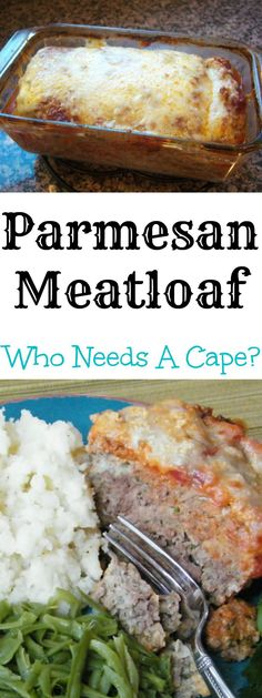 Parmesan Meatloaf, a delicious spin on traditional meatloaf recipes with Italian flavors and cheeses, your family will devour this! Meatloaf Recipes, Meat Recipes, Dinner Recipes, Cooking Recipes, Healthy Recipes, Hamburger Recipes, Meatball Recipes, Casserole Recipes, Dinner Ideas