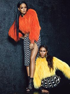 she-loves-fashion:  Iman & Rihanna by Emma Summerton for W Magazine September 2014  luvrumcake: Rihanna's in the presence of style...