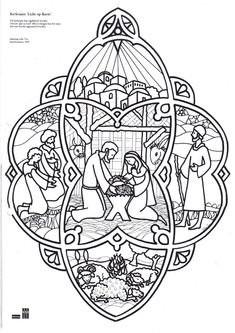 Christmas Coloring Page - Nativity
