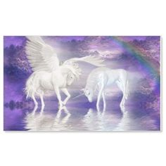 unicorns_wallpaper-28847 Wall Sticker ($14) ❤ liked on Polyvore featuring home, home decor, wallpaper, wall home decor and wall wallpaper