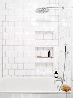 scandinavian bathroom / @bellafosterblog Bathroom, ideas, bath, house, home, indoor, design, decoration, decor, water, shower, storage, rest, diy, room, creative, mirror, towel, shelf, furniture, closet, bathtub, apartments, toilet, loundry, window.