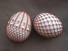Vajíčka zdobená drátkem Wire Ornaments, Egg Tree, Spring Has Sprung, Wire Crafts, Egg Decorating, Beads And Wire, Wire Art, Chainmaille, String Art