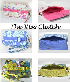 Kiss Clutch | The best sewing patterns for women, girls, toys and more. Go To Patterns & Co. $10.95