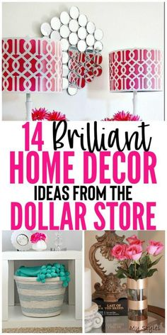 Oct 26 2018  Looking for a brilliant easy and cheap way to decorate your hom Diy Home Decor Rustic, Diy Home Decor Bedroom, Cute Home Decor, Handmade Home Decor, Diy Home Decor On A Budget Easy, Budget Bedroom, Teen Bedroom, Dollar Tree Decor, Dollar Tree Crafts