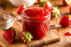 Easy Strawberry Jam Recipe is part of Easy Strawberry Jam Martha Stewart - Easy Strawberry Jam Recipe This easy jam is made with unflavored gelatin and strawberries, of course Delicious and simple to prepare Strawberry Jam Recipe, Strawberry Jelly, Strawberry Breakfast, Instant Pot, Jam Recipes, Recipies, Gelatin Recipes, Kosher Recipes, Fruit Recipes