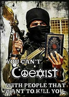 Hate those bumper stickers.  They want you to coexist unless you're a Christian who disagrees with them.