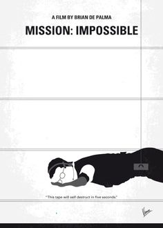 Mission: Impossible (1996) ~ Minimal Movie Poster by Chungkong #amusementphile