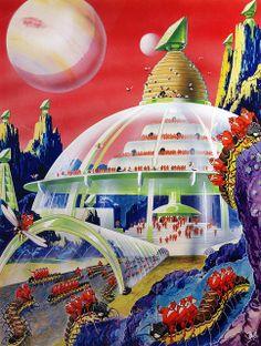Retro-Futuristic City, Colony, Science Fiction
