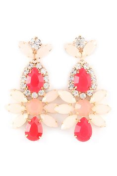 Misha Chandelier Earrings on Emma Stine Limited