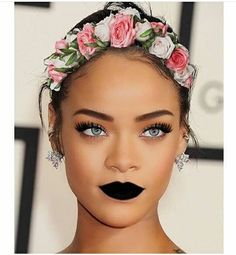 Rihanna flower headband