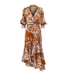 Johanna Ortiz Jaguar Print Wrap Dress available to buy at Harrods.Shop clothing online and earn Rewards points. New Dress, Dress Up, Wrap Dress Outfit, Mode Chic, Day Dresses, Designer Dresses, Beautiful Dresses, Fashion Dresses, Print Wrap