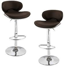 South Mission Saddleback Modern Adjustable Leather Bar Stool (Set of - Brown Extra Tall Bar Stools, Cool Bar Stools, Bar Stools With Backs, Outdoor Bar Stools, Modern Bar Stools, Leather Bar Stools, Metal Bar Stools, Swivel Bar Stools, Home Bar Furniture