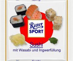 RITTER SPORT Fake Schokolade Sushi