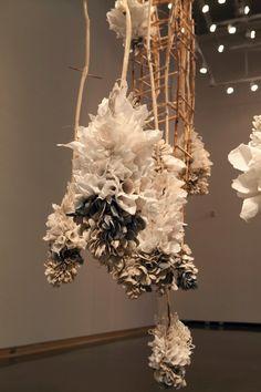 Paper Installation, Craft Museum, Clay Center, Paper Clay, Clay Clay, San Francisco Museums, Ceramic Art, Textile Art, Art Inspo