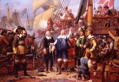 Christian 4. ved højen mast. Maleri af Wilhelm Marstrand