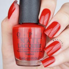 opi got the mean reds swatch opi breakfast at tiffany's collection swatches review christmas holiday 2016 2017 winter red