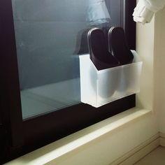 窓ガラスが汚い/スリッパ収納/ベランダ/セリア/100均/整理は好きだけど掃除は苦手…などのインテリア実例 - 2016-12-27 11:52:11 | RoomClip(ルームクリップ)