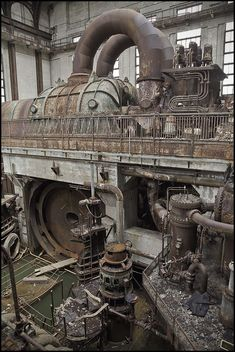Steampunk inspiration... Steam Turbine, now industrial decay.