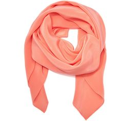Tanya Taylor Peach Susie Scarf (€330) ❤ liked on Polyvore featuring accessories, scarves and square scarves